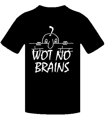 WOT NO BRAINS